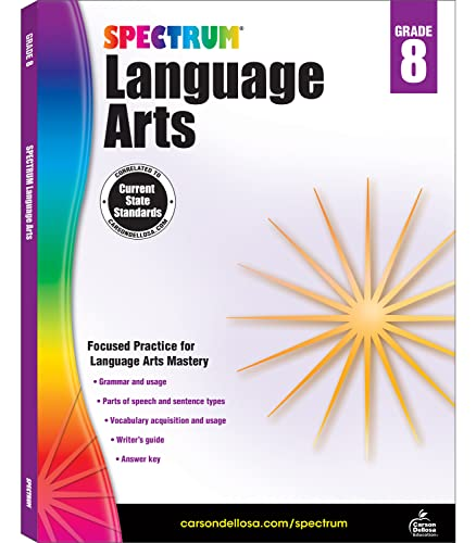 Spectrum Language Arts, Grade 8 By Spectrum