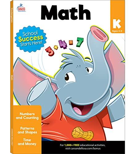 Math Workbook, Grade K By Brighter Child