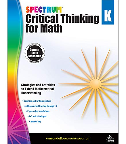 Spectrum Critical Thinking for Math, Grade K By Spectrum