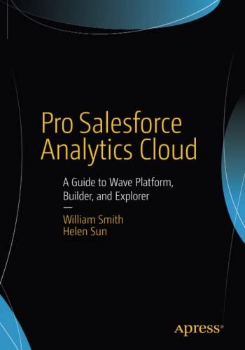 Pro Salesforce Analytics Cloud By William Smith