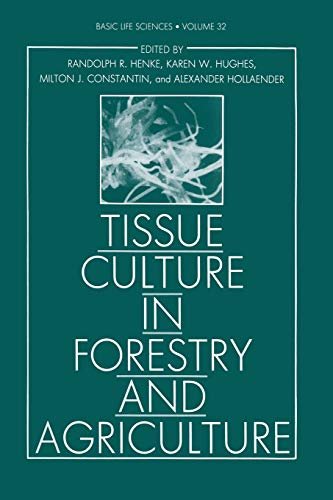 Tissue Culture in Forestry and Agriculture By Randolph R. Henke