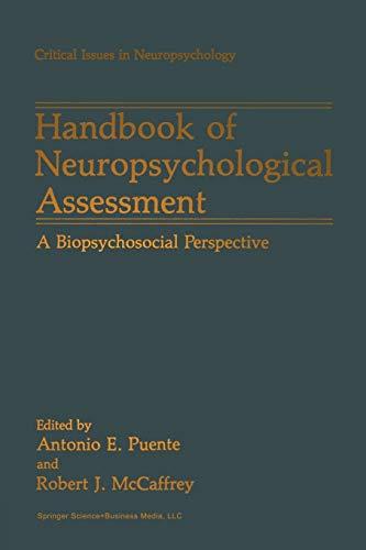 Handbook of Neuropsychological Assessment By Antonio E. Puente