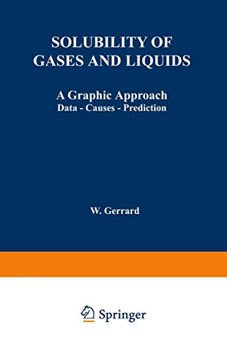 Solubility of Gases and Liquids By W. Gerrard