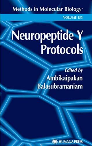 Neuropeptide Y Protocols By Ambikaipakan Balasubramaniam