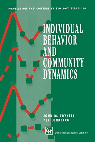 Individual Behavior and Community Dynamics By John M. Fryxell