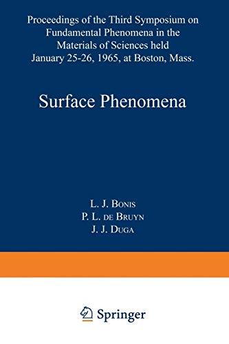 Surface Phenomena By Laszlo J. President , CEO Bonis