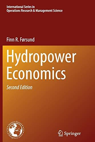 Hydropower Economics By Finn R. Forsund