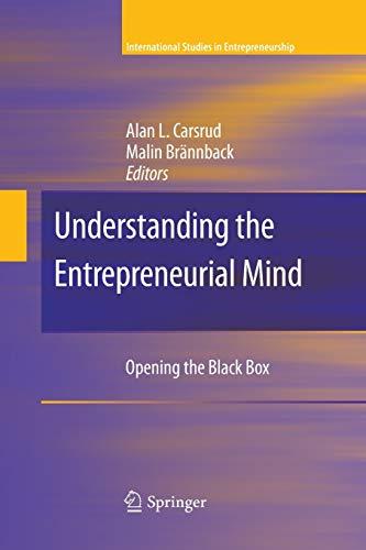 Understanding the Entrepreneurial Mind By Alan L. Carsrud
