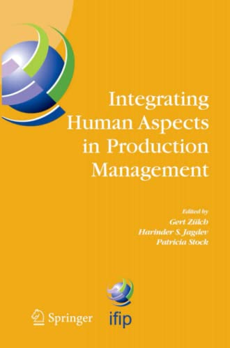 Integrating Human Aspects in Production Management By Gert Zulch