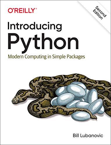 Introducing Python By Bill Lubanovic