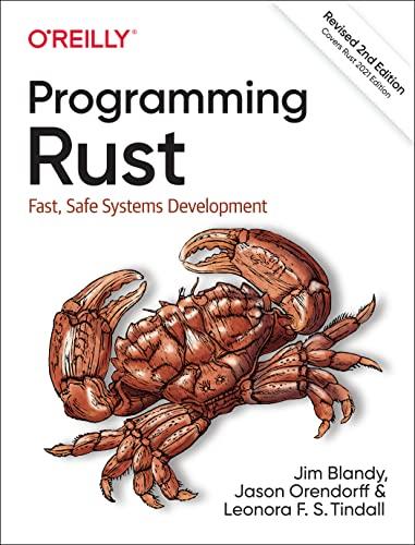 Programming Rust By Jim Blandy