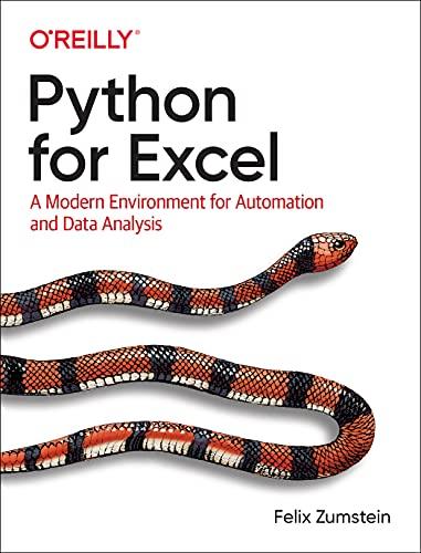 Python for Excel By Felix Zumstein