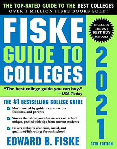 Fiske Guide to Colleges 2021 von Edward Fiske