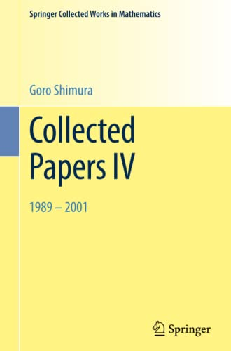 Collected Papers IV By Goro Shimura
