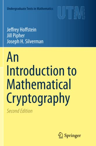 An Introduction to Mathematical Cryptography By Jeffrey Hoffstein