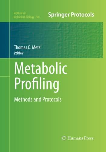Metabolic Profiling By Thomas O. Metz