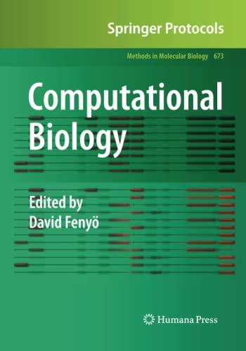Computational Biology By David Fenyoe