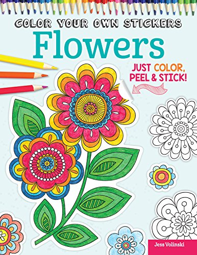 Color Your Own Stickers Flowers By Jess Volinski