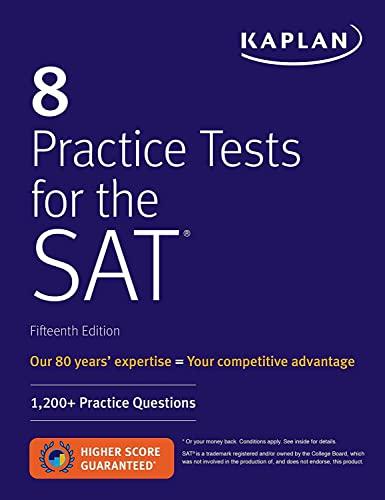 8 Practice Tests for the SAT von Kaplan Test Prep