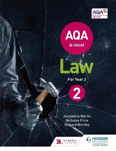AQA A-level Law for Year 2 By Jacqueline Martin