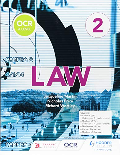OCR A Level Law Book 2 By Jacqueline Martin