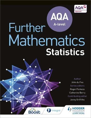 AQA A Level Further Mathematics Statistics By John Du Feu