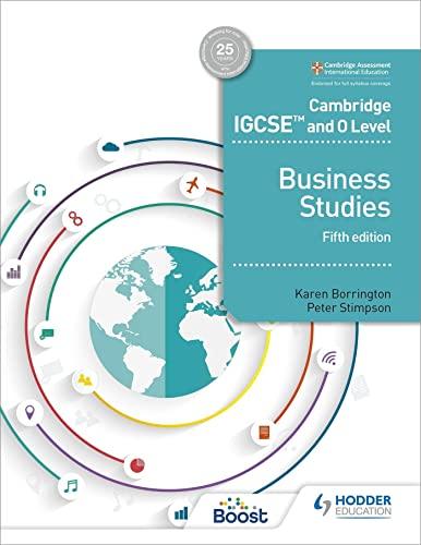 Cambridge IGCSE and O Level Business Studies 5th edition von Karen Borrington