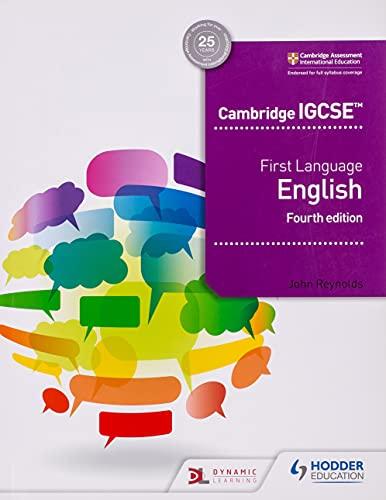 Cambridge IGCSE First Language English 4th edition von John Reynolds