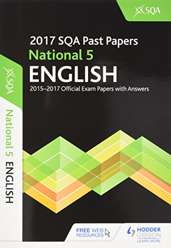 National 5 English 2017-18 SQA Past Papers With Answers by SQA 9781510421769