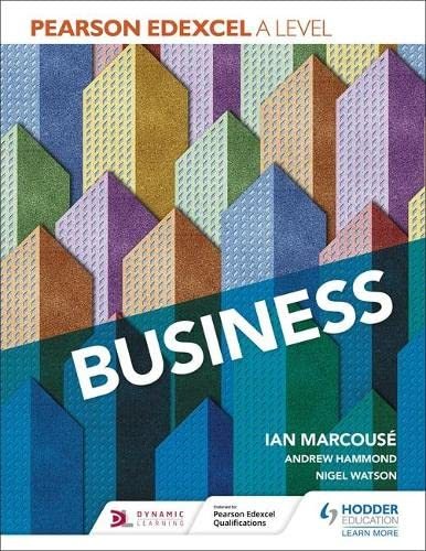 Pearson Edexcel A level Business By Ian Marcouse