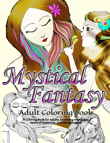 Mystical/Fantasy Adult Coloring Book By Puzzle Book