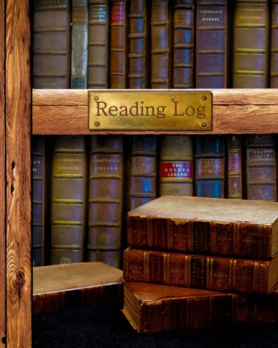 "Reading Log: Gifts for Book Lovers / Reading Journal [ Softback * Large (8"" x 10"") * Antique Books * 100 Spacious Record Pages & More... ] (Reading Logs & Journals) By Smart Bookx"