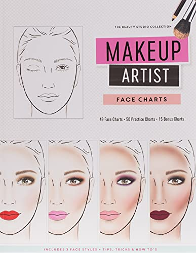 Makeup Artist Face Charts (The Beauty Studio Collection) By Gina M Reyna