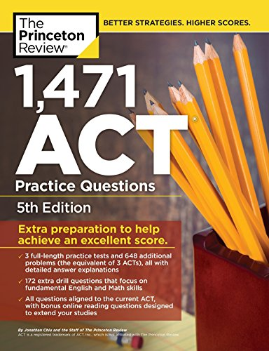1,460 Act Practice Questions By Princeton Review