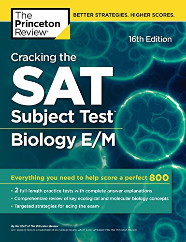 Cracking the Sat Biology E/M Subject Test By Princeton Review