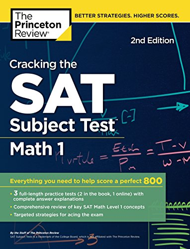 Cracking the Sat Math 1 Subject Test By Princeton Review