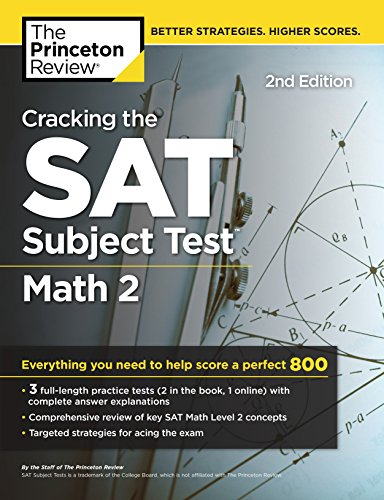Cracking the Sat Math 2 Subject Test By Princeton Review