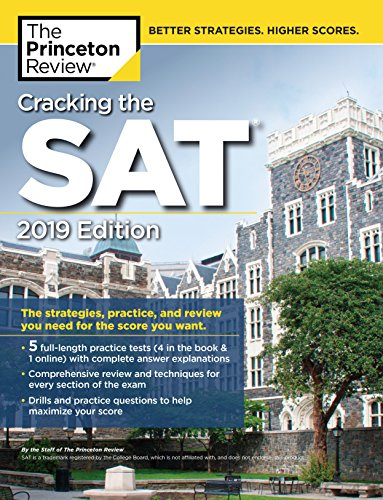 Cracking the SAT with 5 Practice Tests By Princeton Review