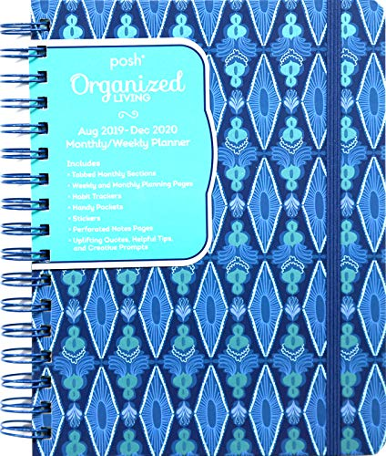 Posh: Organized Living Blue Lagoon 2019-2020 Monthly/Weekly Diary Planner By Andrews McMeel Publishing