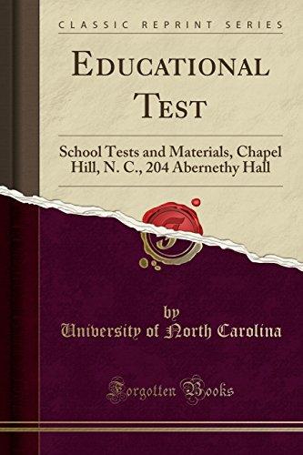 Educational Test By University Of North Carolina