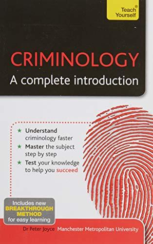 Teach Yourself Criminology By PETER JOYCE