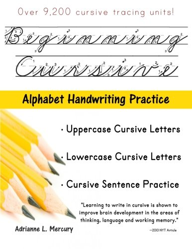 beginning cursive alphabet handwriting practice over 9 200 cursive tracing units by adrianne. Black Bedroom Furniture Sets. Home Design Ideas