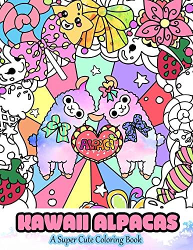 Kawaii Alpacas By Mindful Coloring Books