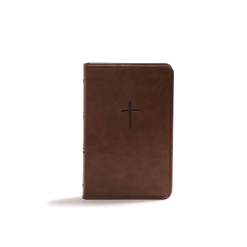 CSB Compact Bible, Brown LeatherTouch, Value Edition By CSB Bibles by Holman CSB Bibles by Holman