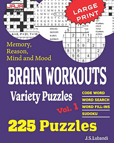 Brain Workouts Variety Puzzles By J S Lubandi