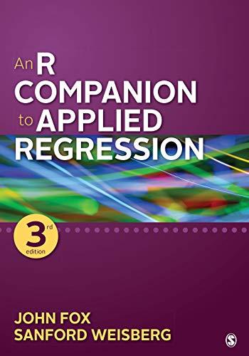 An R Companion to Applied Regression By John Fox
