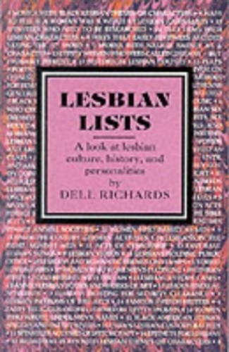 Lesbian Lists By Dell Richards