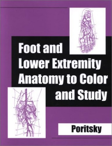 Foot and Lower Extremity Anatomy to Color and Study by Ray Poritsky