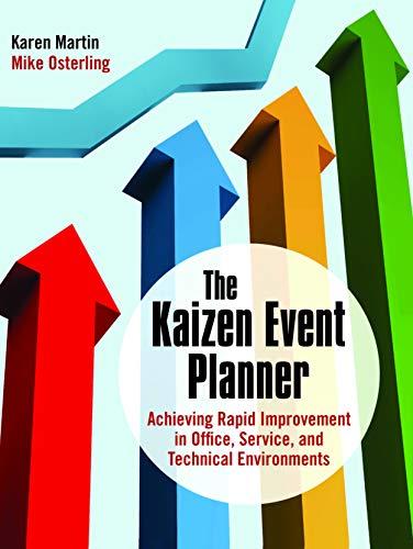 The Kaizen Event Planner By Karen Martin (Karen Martin & Associates, San Diego, CA, USA)