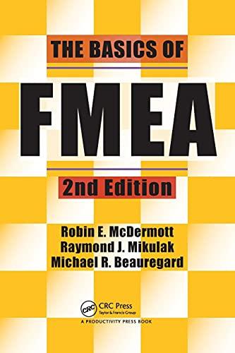 The Basics of FMEA By Robin E. McDermott